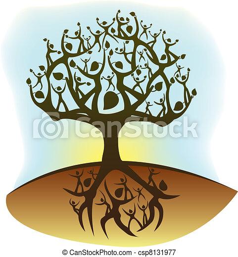 vida, árbol - csp8131977