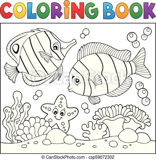 vida, colorido, tema, libro, 4, mar - csp59072302