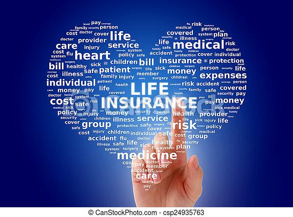El concepto de seguro de vida - csp24935763