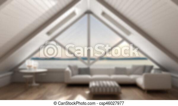 diseño clásico de sala de estar Diseo De Interiores De Fondo Azulado Loft Clsico