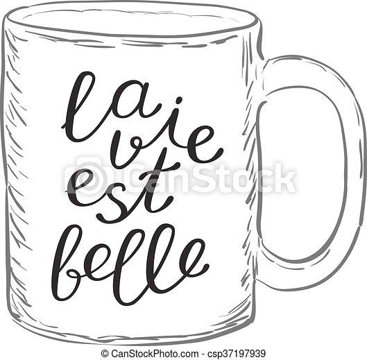 vida, est, la, compita, belle., french., bom - csp37197939