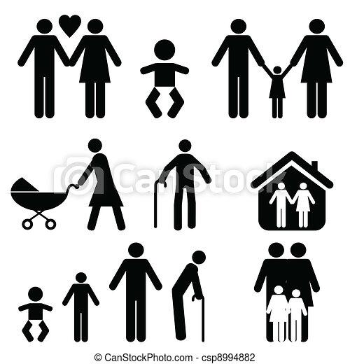 vida, familia  - csp8994882