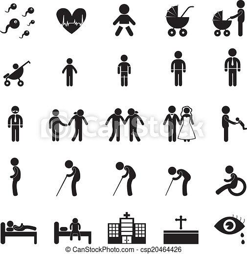icono de vida humana - csp20464426