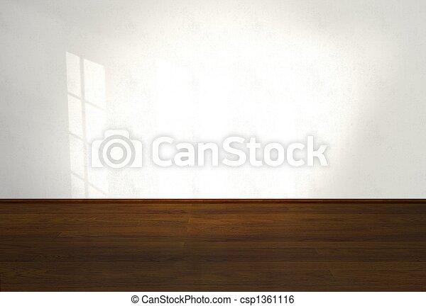 vida, interior, habitación vacía - csp1361116