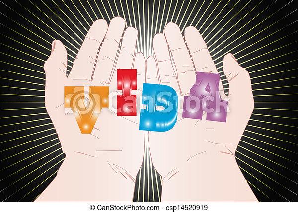 La vida en las manos - csp14520919