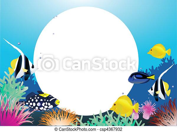 Dibujos animados de la vida marina - csp4367932