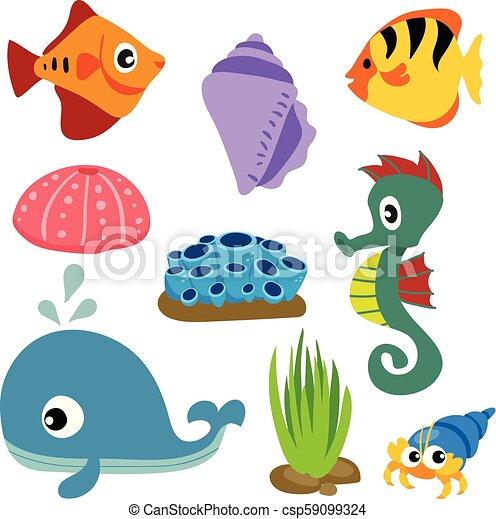 Diseño de vectores de vida marino - csp59099324