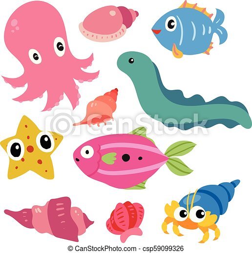 Diseño de vectores de vida marino - csp59099326
