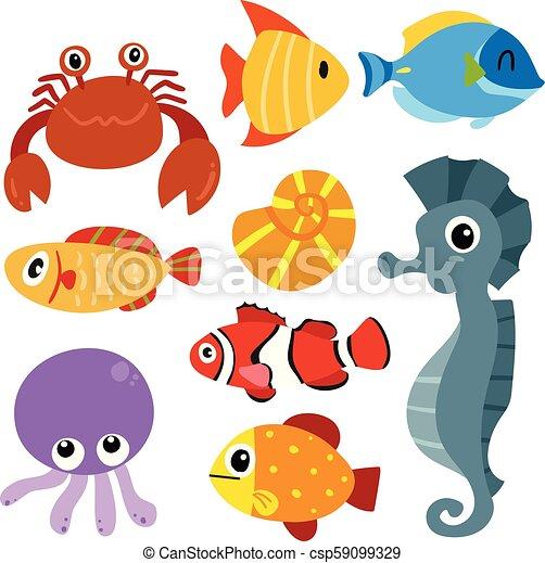 Diseño de vectores de vida marino - csp59099329