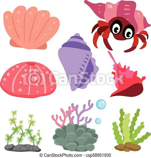 Diseño de vectores de vida marino - csp58951930