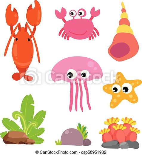 Diseño de vectores de vida marino - csp58951932