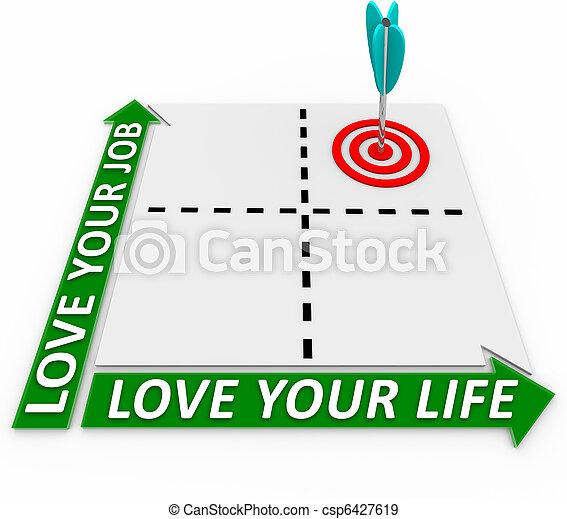 Carrera y matriz de vida, flecha y objetivo - csp6427619