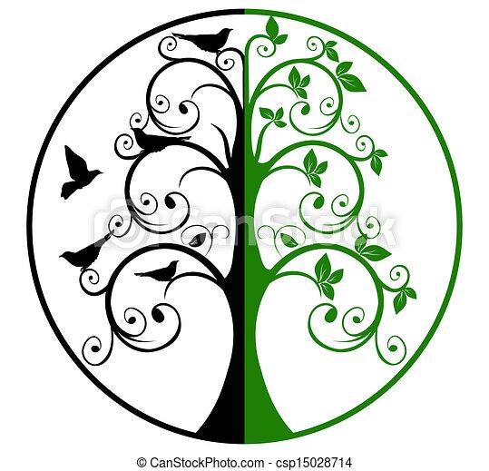 El árbol de la vida y la muerte - csp15028714