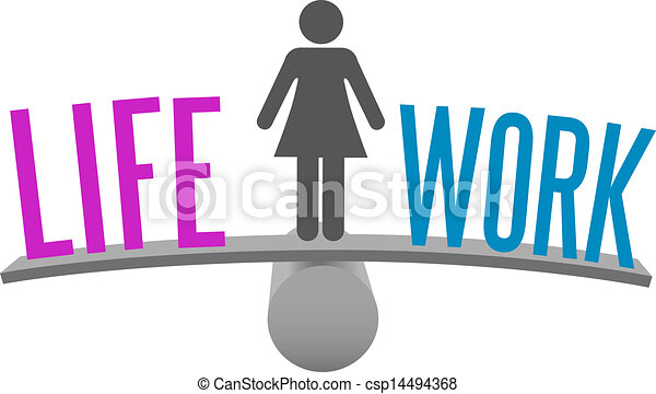 La mujer equilibra la decisión del trabajo - csp14494368