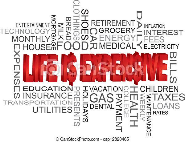 La vida es una palabra muy cara - csp12820465