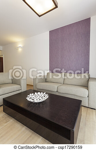 vida, plano, -, habitación, cómodo - csp17290159
