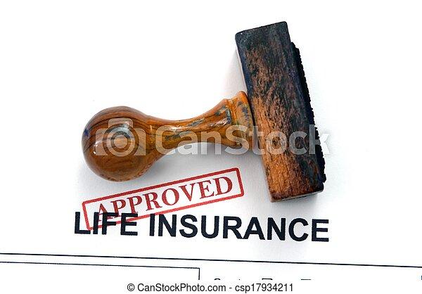 Seguro de vida, aprobado - csp17934211