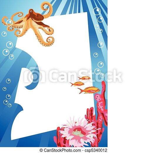 Vida submarina - csp5340012