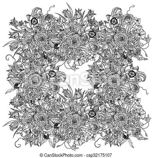 Vida Todavia Flores Vector Colorido Illustration Textiles