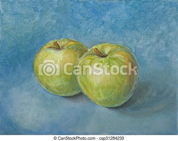 Aún vive con manzanas - csp31284230