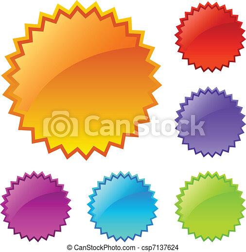vide, éclaboussure, coloré, icônes - csp7137624