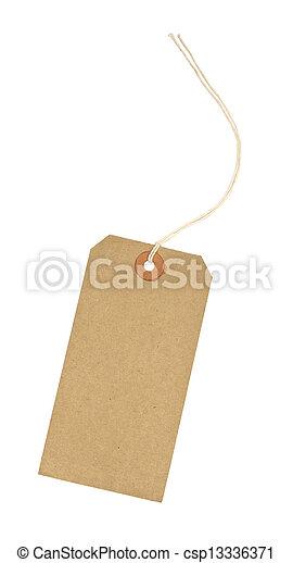 vide, étiquette, identification, carton, bagage - csp13336371