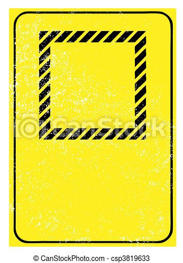 vide, avertissement, grunge, signe - csp3819633