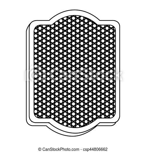 vide, emblème, plaque, icône - csp44806662