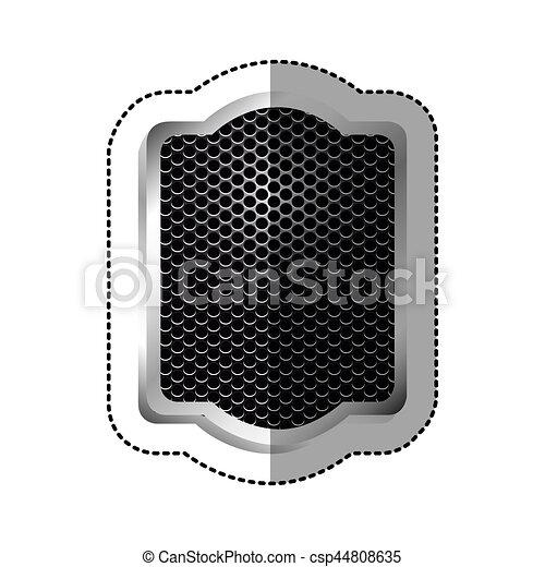 vide, emblème, plaque, icône - csp44808635