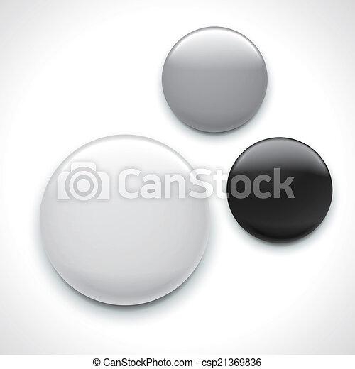 vide, gabarit, écusson, bouton - csp21369836