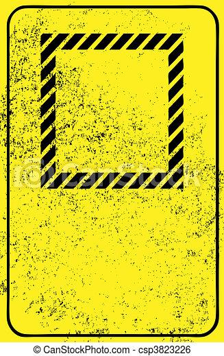 vide, grunge, signe - csp3823226