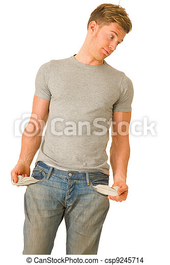 vide, jeune, poches, homme - csp9245714