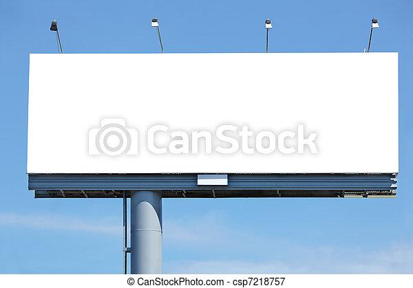 vide, panneau affichage - csp7218757