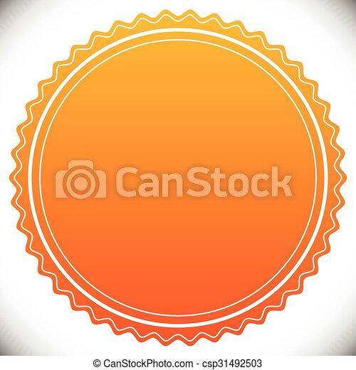 vide, timbre, gabarit, cachet, écusson, ou, vide - csp31492503