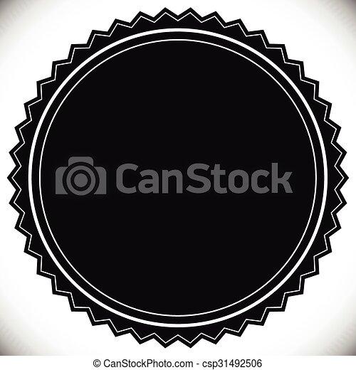 vide, timbre, gabarit, cachet, écusson, ou, vide - csp31492506