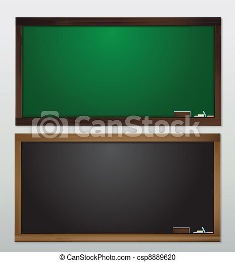 vide, vecteur, tableau noir - csp8889620