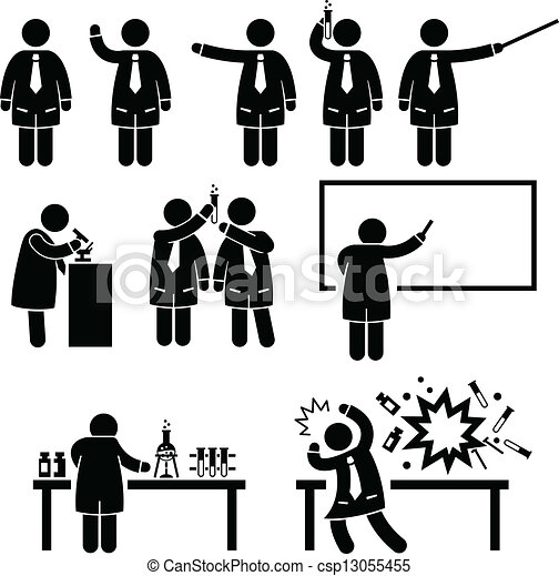 videnskab, professor, videnskabsmand, laboratorium. - csp13055455
