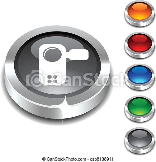Video 3d button. - csp8138911