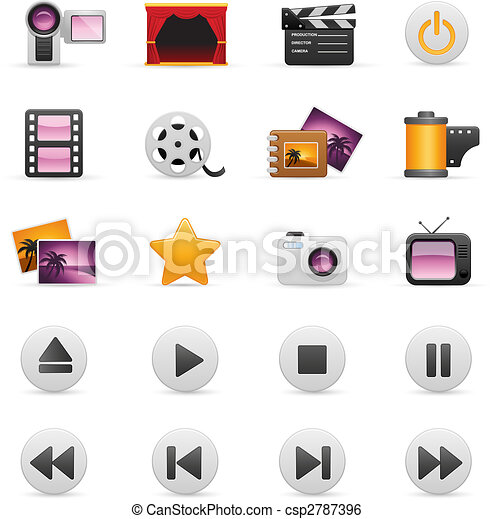 Video And Photo Icon Set - csp2787396