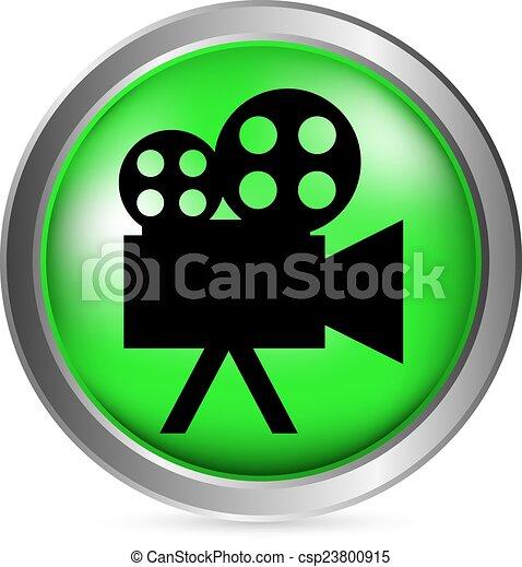 Video camera button - csp23800915