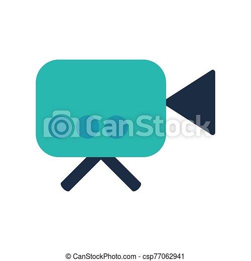 Video camera flat vector icon - csp77062941