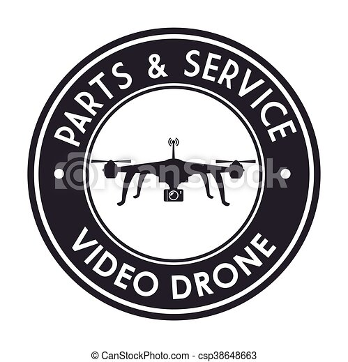Video Drone Technology Isolated Icon Design