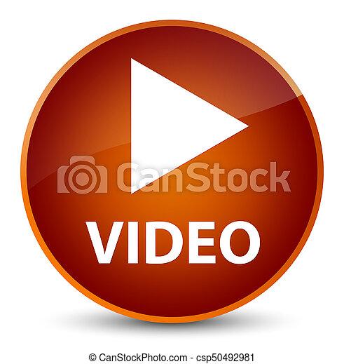 Video elegant brown round button - csp50492981