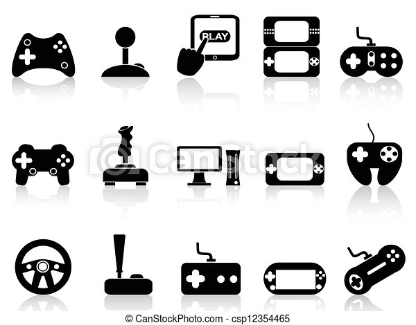 video game and joystick icons set - csp12354465
