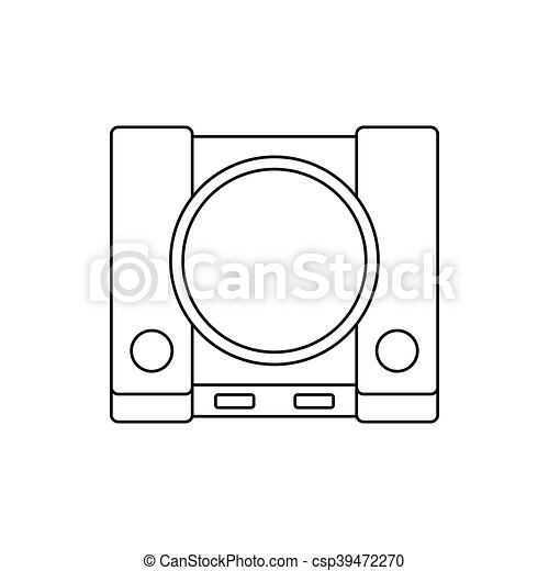 Video Game Console Icon Outline Style Video Game Console Icon In - Video game outline