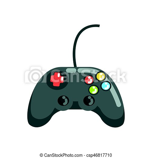 video game controller gamepad colorful cartoon vector illustration rh canstockphoto com Video Game Controller Drawing video game controller cartoon images