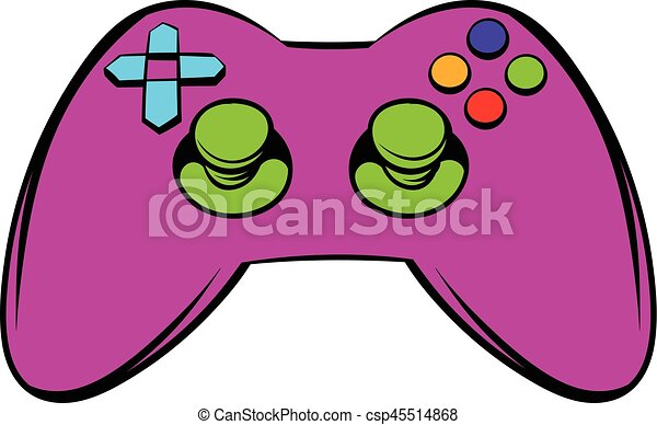 video game controller icon icon cartoon video game controller icon rh canstockphoto com how to draw a cartoon video game controller Video Game Controller Drawing