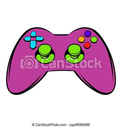 video game controller icon icon cartoon video game controller icon rh canstockphoto com Video Game Controller Clip Art Video Game Controller Logo