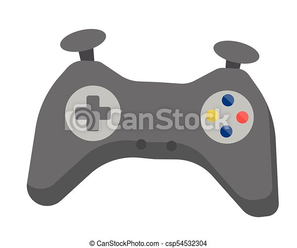 Video Game Controller Vector Cartoon Illustration Video Game Controller Vector Cartoon Illustration Isolated On White Canstock