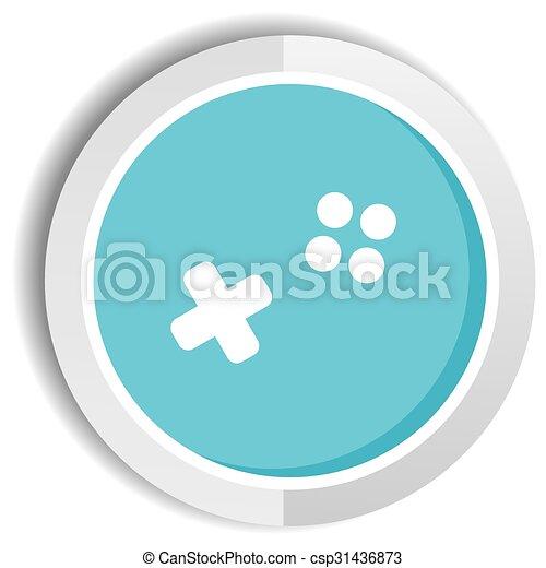video game icon button - csp31436873